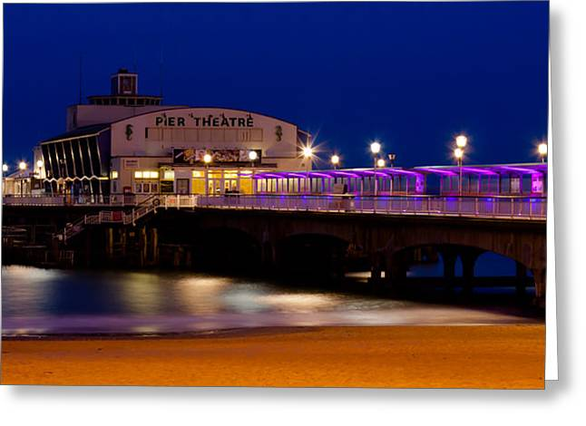 Outdoor Theater Greeting Cards - Bournemouth pier Greeting Card by Gyorgy Kotorman