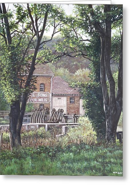 Bournemouth Throop Mill Through Trees Greeting Card by Martin Davey