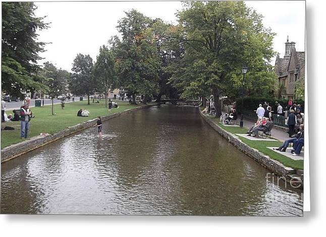 Bourton On The Water Greeting Card by John Williams