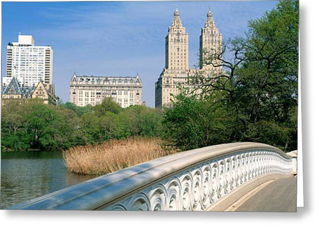 Bow Bridge Greeting Cards - Bow Bridge, Central Park, Nyc, New York Greeting Card by Panoramic Images