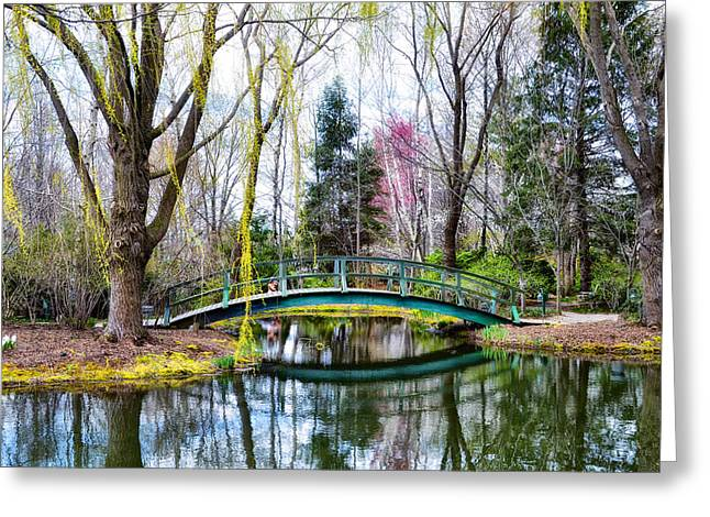 Bow Bridge Greeting Cards - Bow Bridge - Grounds for Schulpture Greeting Card by Bill Cannon