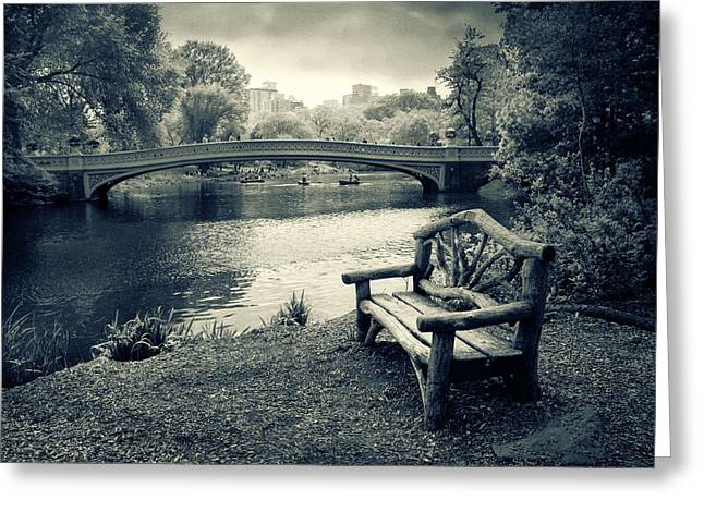 Jessica Photographs Greeting Cards - Bow Bridge Nostalgia Greeting Card by Jessica Jenney