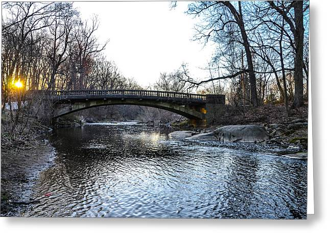 Bow Bridge Greeting Cards - Bow Bridge over Chester Creek Greeting Card by Bill Cannon
