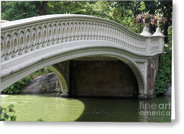 Weeping Greeting Cards - Bow Bridge Relief  Greeting Card by Christiane Schulze Art And Photography