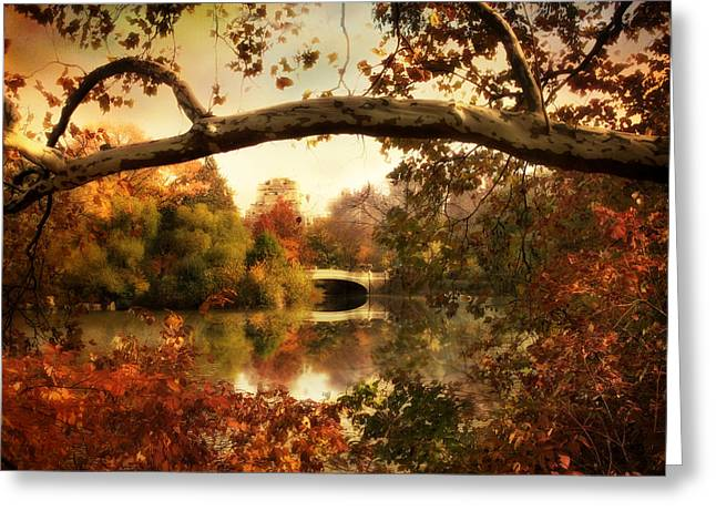 Afternoon Light Greeting Cards - Bow Bridge Views Greeting Card by Jessica Jenney