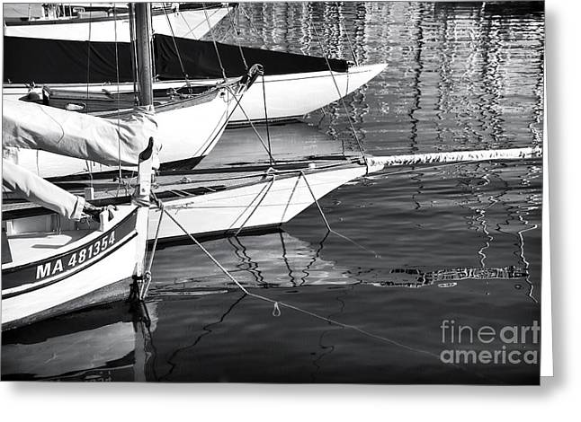 Sailboat Photos Greeting Cards - Bow Greeting Card by John Rizzuto