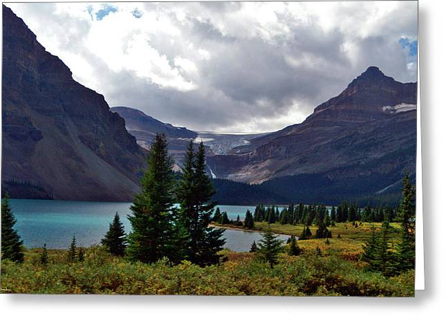 Jeremy Greeting Cards - Bow Lake Greeting Card by Jeremy Rhoades