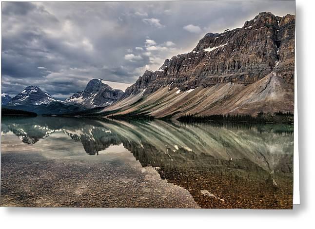Bow Lake Greeting Card by Kathleen Bishop