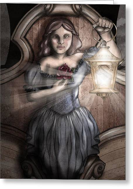 Schooner Digital Greeting Cards - Bow Maiden Greeting Card by April Moen