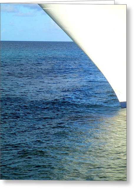 Boat Cruise Greeting Cards - Bow Greeting Card by Randall Weidner