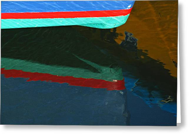 Chatham Greeting Cards - Bow Reflection Greeting Card by Juergen Roth