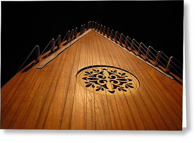 Greg Simmons Greeting Cards - Bowed Psaltery Greeting Card by Greg Simmons