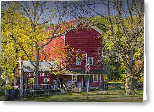 Cider Mill Greeting Cards - Bowens Cider Mill during Autumn Greeting Card by Randall Nyhof