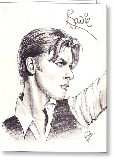 Thin Drawings Greeting Cards - Bowie Greeting Card by Cristophers Dream Artistry