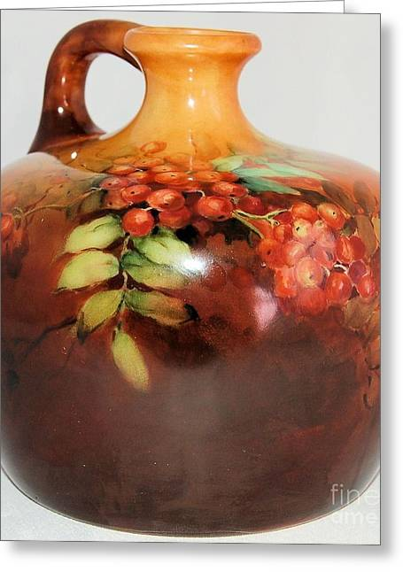 Fine Art Ceramics Greeting Cards - Bowl IDEA Greeting Card by Qasir Z Khan