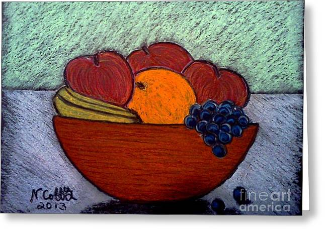 Bowl Pastels Greeting Cards - Bowl Of Fruit Greeting Card by Neil Stuart Coffey
