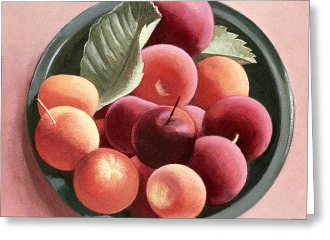 Bowl of Fruit Greeting Card by Tomar Levine