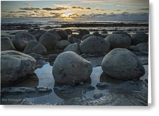 California Central Coast Greeting Cards - Bowling Ball Beach 2 Greeting Card by Ron Schwager