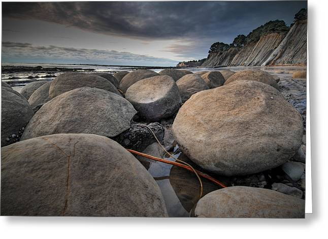 Bowling Ball Beach 4 Greeting Card by Ron Schwager