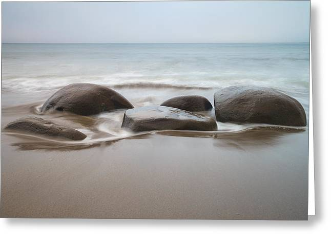 Bowling Greeting Cards - Bowling ball beach Greeting Card by Francesco Emanuele Carucci