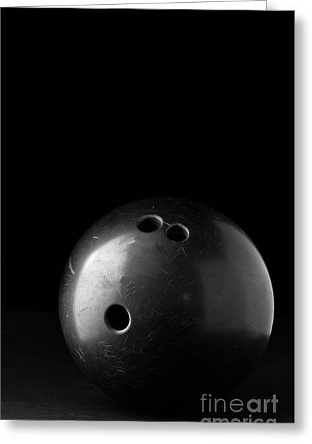 White Bowl Greeting Cards - Bowling Ball Greeting Card by Edward Fielding