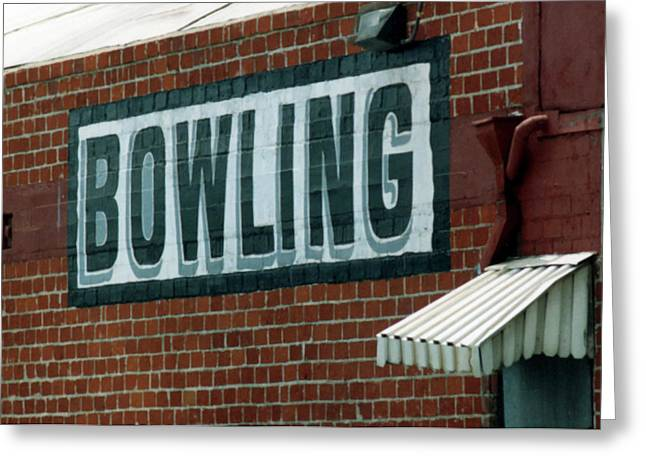 Urban Sport Greeting Cards - Bowling Greeting Card by Charlette Miller