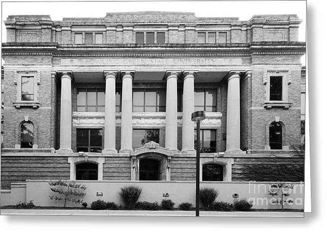 Bowling Green State University Hall Greeting Card by University Icons