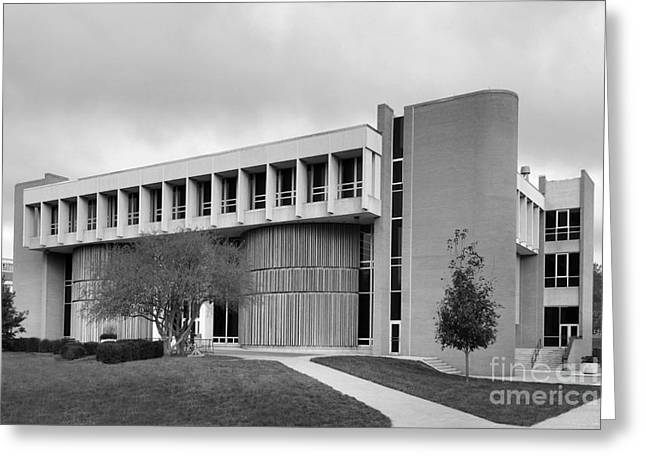 Brutalism Greeting Cards - Bowling Green State University Math and Science Greeting Card by University Icons