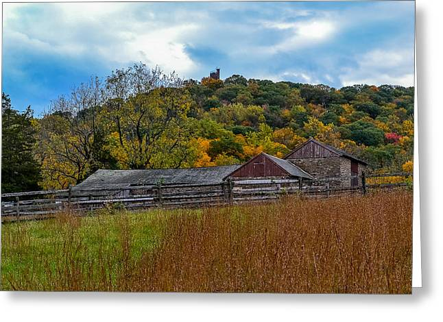 Battle Of Trenton Greeting Cards - Bowmans Hill Thompson Neely Farm Greeting Card by Michael Brooks