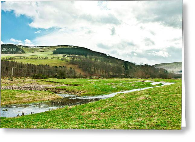 Vale Greeting Cards - Bowmont valley Greeting Card by Tom Gowanlock