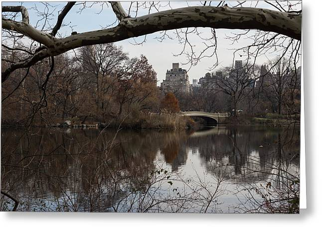 Bows And Arches - New York City Central Park Greeting Card by Georgia Mizuleva