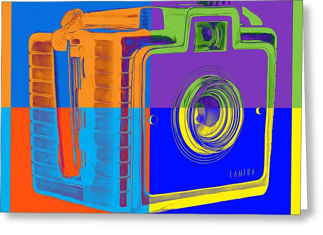 Artist Photographs Greeting Cards - Box Camera Pop Art 1 Greeting Card by Edward Fielding