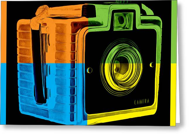 Artist Photographs Greeting Cards - Box Camera Pop Art 2 Greeting Card by Edward Fielding