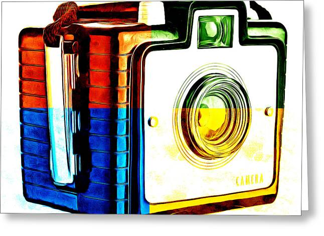 Artist Photographs Greeting Cards - Box Camera Pop Art 3 Greeting Card by Edward Fielding