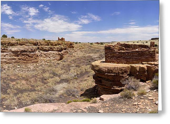 Sinagua Greeting Cards - Box Canyon Stone Dwelling Wupatki July 24 2011 Greeting Card by Brian Lockett