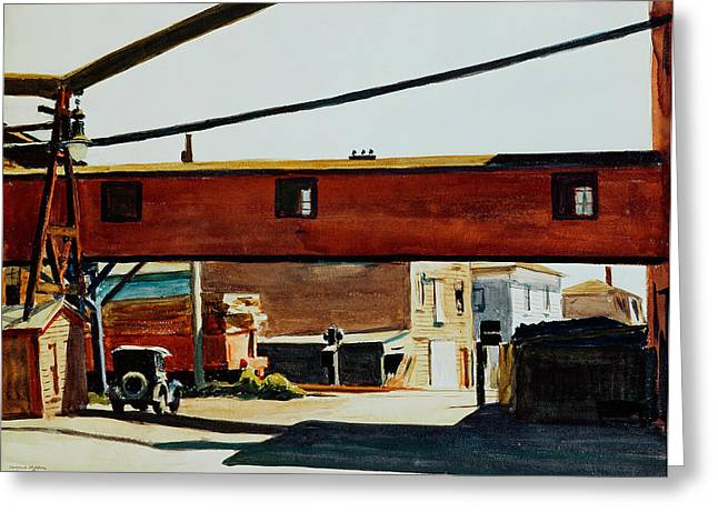 Covered Bridge Greeting Cards - Box Factory Greeting Card by Edward Hopper