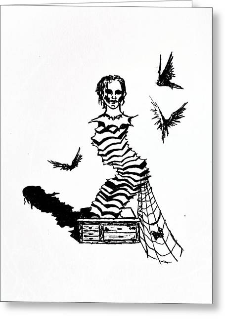 Jack-in-the-box Greeting Cards - Box Greeting Card by Kd Neeley