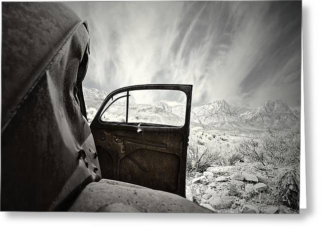 Rusted Cars Greeting Cards - Box Seats Greeting Card by Mark Ross