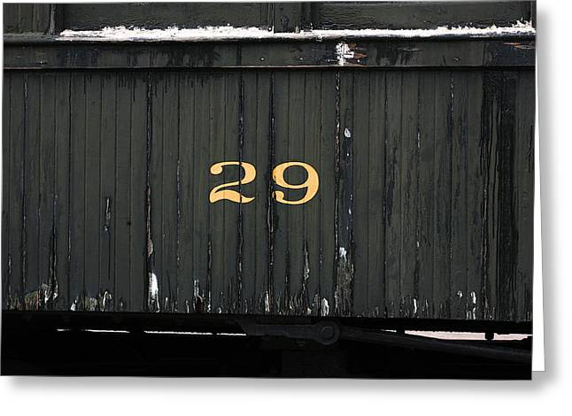 Boxcars Greeting Cards - Boxcar Number 29 Greeting Card by Art Block Collections