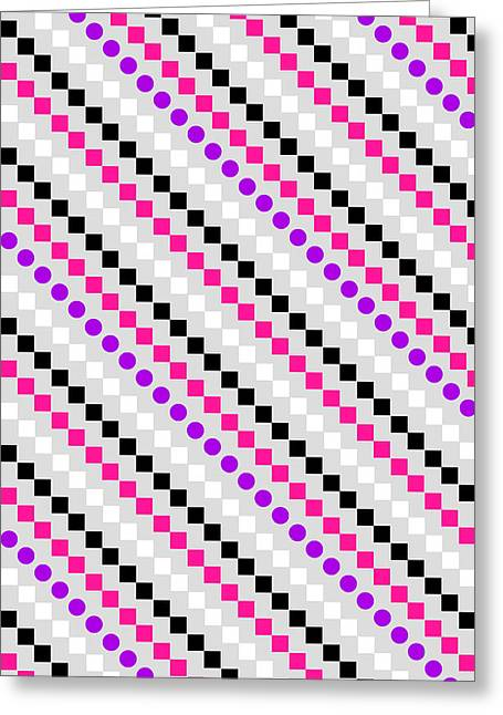 Violet Art Greeting Cards - Boxed Stripe Greeting Card by Louisa Hereford