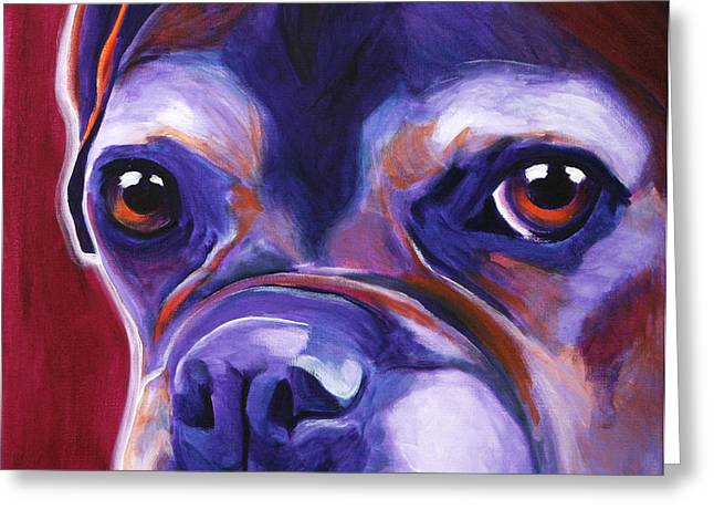 Alicia Vannoy Call Greeting Cards - Boxer - Wallace Greeting Card by Alicia VanNoy Call