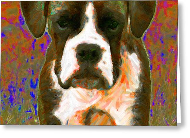 Boxer 20130126v1 Greeting Card by Wingsdomain Art and Photography