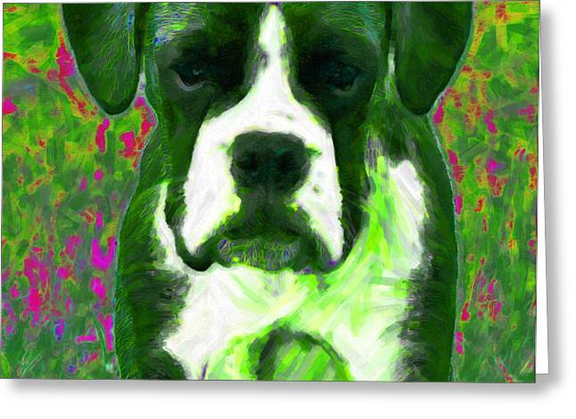 Boxer 20130126v3 Greeting Card by Wingsdomain Art and Photography
