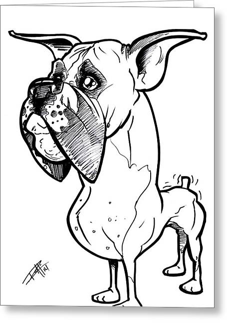 I Roate This Drawings Greeting Cards - Boxer Greeting Card by Big Mike Roate