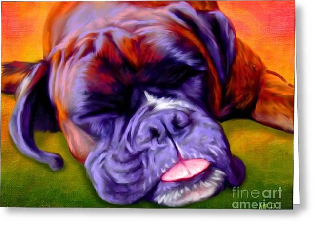Buy Dog Prints Digital Greeting Cards - Boxer Greeting Card by Iain McDonald