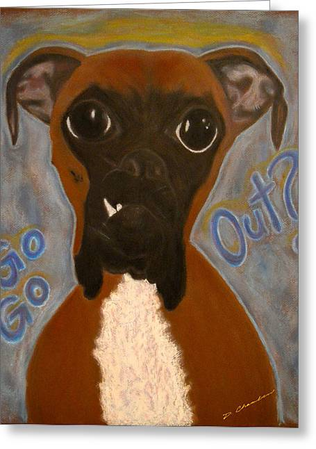 Boxer Pastels Greeting Cards - Boxer Love Greeting Card by Doug Chambers