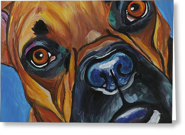 Boxer Greeting Cards - Boxer Greeting Card by Melissa Smith