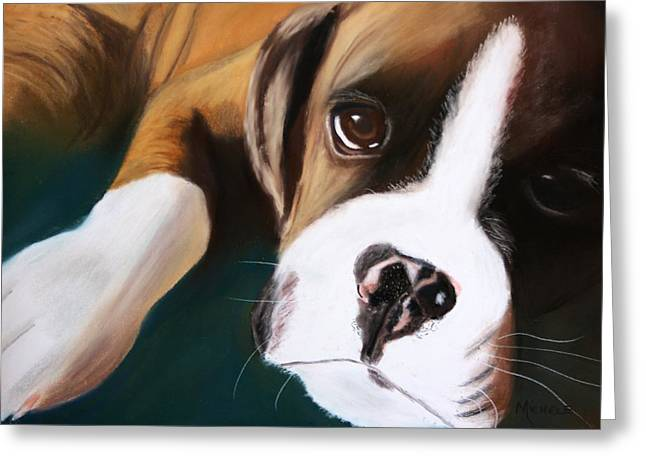 Boxer Pastels Greeting Cards - Boxer Greeting Card by Michele Turney