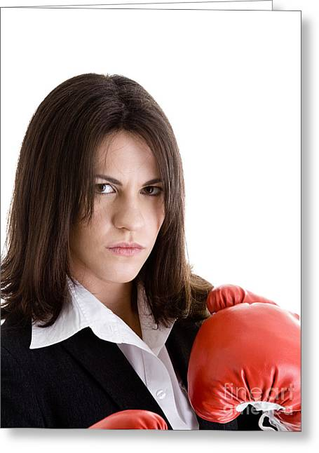 Anger And Hostility Greeting Cards - Boxing Gloves Greeting Card by Jim Pruitt