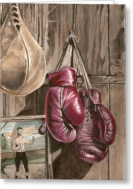 Boxing Nostalgia Greeting Card by Robert Crandall